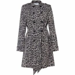 Damsel in a Dress Roaming Leopard Trench Coat