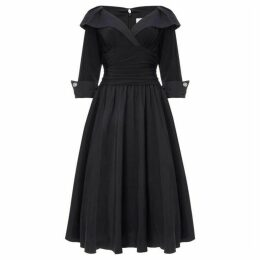 Eliza J Cuff sleeve V neck ruched waist dress