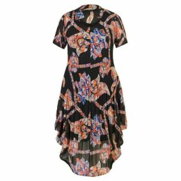 Chesca Abstract Print Crush Pleat Dress