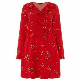 Vero Moda Parisian Short Wrap Long Sleeve Dress