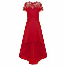 Chi Chi Lace Panel Dip Hem Dress