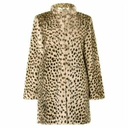 Damsel in a Dress Carter Leopard Faux Fur Coat