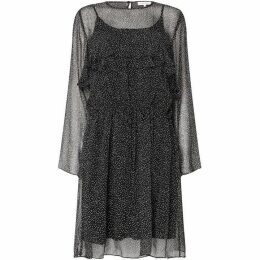 Second Female Rebecca Long Sleeve Ruffle Knee Length Dress