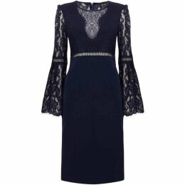 Bardot Long sleeve lace dress
