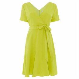 Outline Wrap dress with tie waist