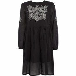People Tree Long Sleeve Embroidered Dress