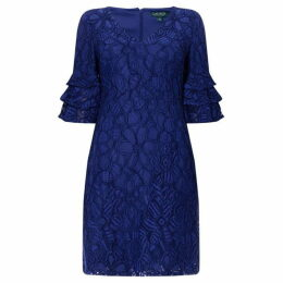 Lauren Lace frill sleeve dress
