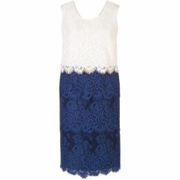 Chesca Eyelash Trim Scallop Lace Dress