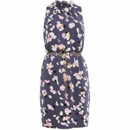 Damsel in a Dress Petal Print Drape Dress