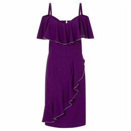 HotSquash Bardot Ruffle Knee Length Dress