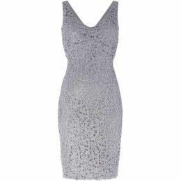 Marina Lace heart neck shift dress