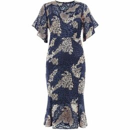 Damsel in a Dress Jamil Lace Fluted Sleeve Dress