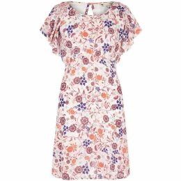 Yumi Swirled Floral Crinkled Dress