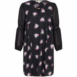 Yumi Floral Cluster Print Tunic Dress