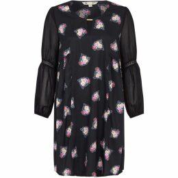 Yumi Floral Cluster Print Tunic Dress
