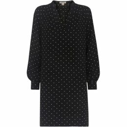Whistles Spot Tie Back Shift Dress