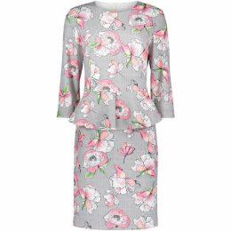 Betty Barclay Floral Print Peplum Dress
