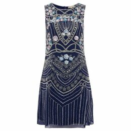 Frock and Frill round neck embellished mini dress
