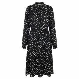 Nougat Sorrel Polka Dot Dress