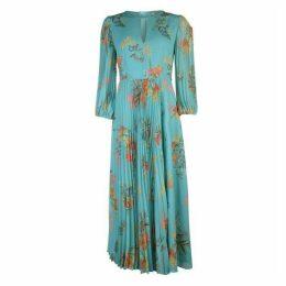 Marella Womens Long Sleeve Pleated Dress