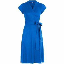 HotSquash Cap Sleeve Wrap Dress in unique fabric
