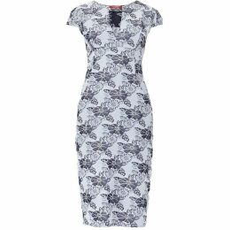 M by MAIOCCI Floral V-neck Dress