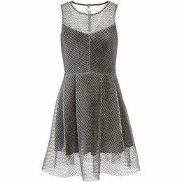 Lavand Mesh Skater Dress