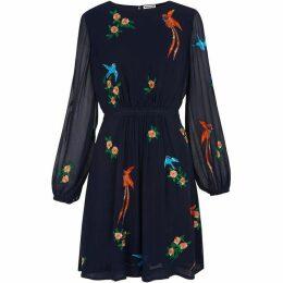 Whistles Aria Embroidered Bird Dress
