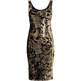 Bardot Contrast sequin dress with velvet detail