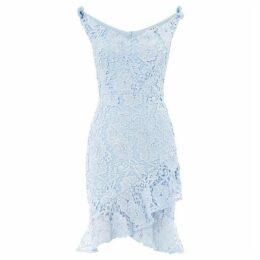 Sistaglam loves Jessica V neck off the shoulder lace dress