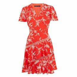 Karen Millen Tiered-Hem Dress
