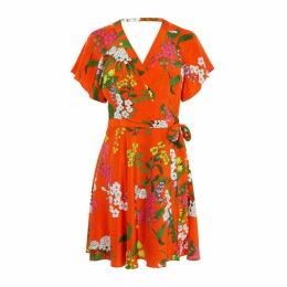 Karen Millen Floral Silk Mini Dress