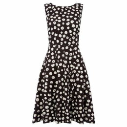 DKNY Brush dot fit and flare dress