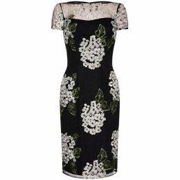 Adrianna Papell Hydrangea Embroidery Sheath Dress