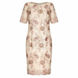 Adrianna Papell Short Embroidered Dress