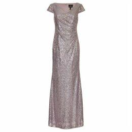 Adrianna Papell Cap Sleeve Sequin Dress