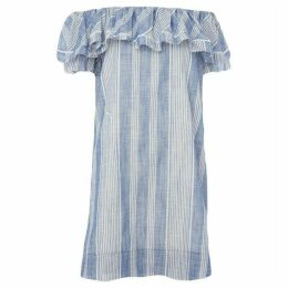 Suncoo Come Ruffle Off Shoulder Dress