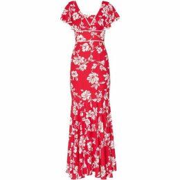 Gina Bacconi Lulu Floral Chiffon Maxi Dress