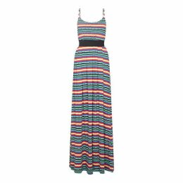 Yumi Mexican Jersey Stripe Maxi Dress