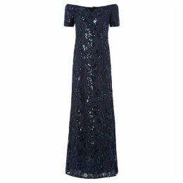 Adrianna Papell Sequin bardot maxi dress