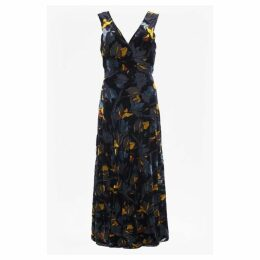 French Connection Aventine Velvet V Neck Maxi Dress