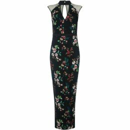 Yumi Oriental Embroidered Maxi Dress