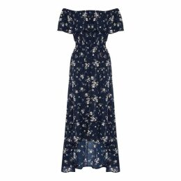 Mela Floral Print Bardot Maxi Dress