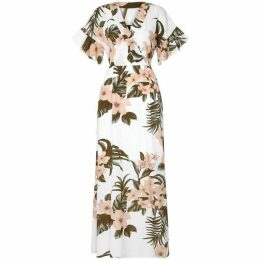 Mela Tropical Pastel Print Maxi Dress