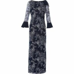 Gina Bacconi Taryn Embroidery Maxi Dress