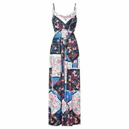 Yumi Floral Scarf Print Maxi Dress