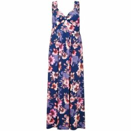 Mela London Curve Floral Printed Maxi Dress