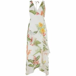 Warehouse Tropical Floral Maxi Dress