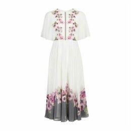 Ted Baker Begoni Neopolitan Frilled Neck Maxi Dress