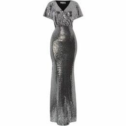 Sistaglam loves Jessica V neck sequin maxi dress